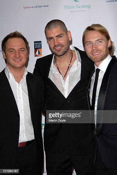 Andy Gomarsall Shane Lynch and Ronan Keating attend The Emeralds Ivy Ball hosted by Ronan Keating for Cancer Research UK sponsored by Anglo Irish...