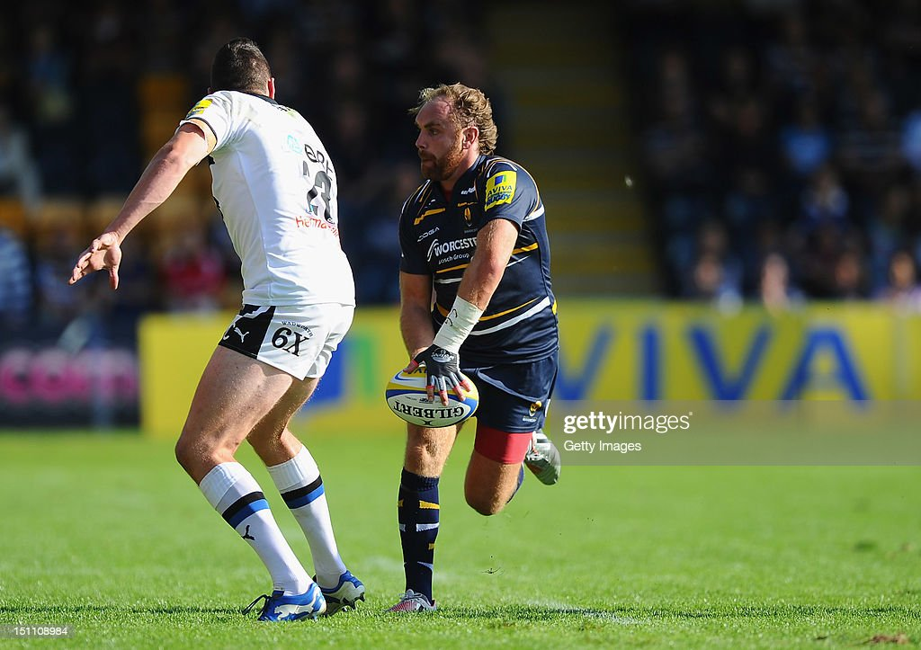 Andy Goode of Worcester during the Aviva Premiership match between Worcester Warriors and Bath at Sixways Stadium on September 1, 2012 in Worcester, England.