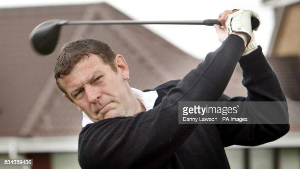 Andy Goram during the Jinky Johnstone Golf Challenge at the Westerwood Hotel golf club in Cumbernauld