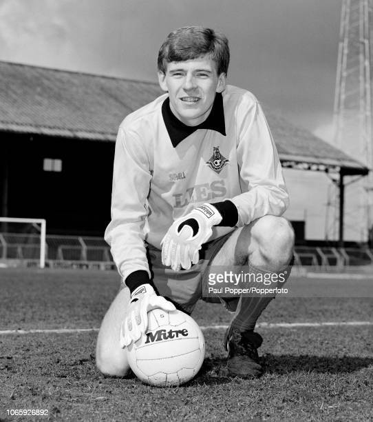 Andy Goram of Oldham Athletic at Boundary Park in Oldham England circa 1985