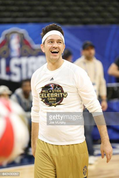 Andy Grammar of the West Team warms up before the NBA AllStar Celebrity Game as a part of 2017 AllStar Weekend at the MercedesBenz Superdome on...