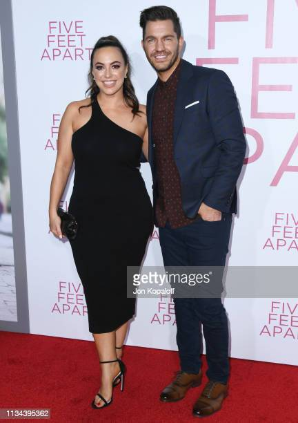 Andy Grammer and Aijia Grammer attend the premiere of Lionsgate's 'Five Feet Apart' at Fox Bruin Theatre on March 07 2019 in Los Angeles California
