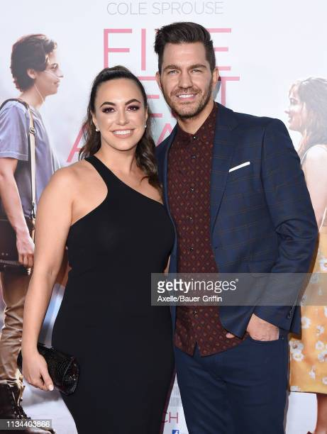 Andy Grammer and Aijia Lise attend the premiere of Lionsgate's 'Five Feet Apart' at Fox Bruin Theatre on March 07 2019 in Los Angeles California