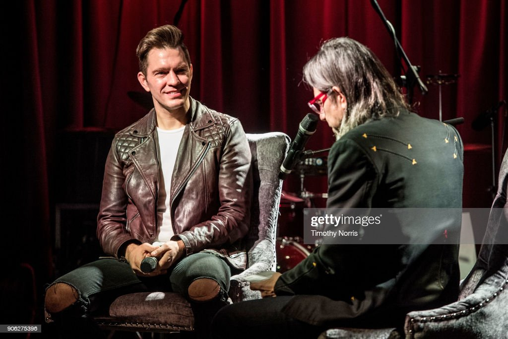 Andy Grammer and Scott Goldman speak during The Drop: Andy Grammer at The GRAMMY Museum on January 17, 2018 in Los Angeles, California.
