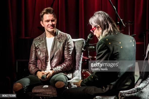 Andy Grammer and Scott Goldman speak during The Drop Andy Grammer at The GRAMMY Museum on January 17 2018 in Los Angeles California