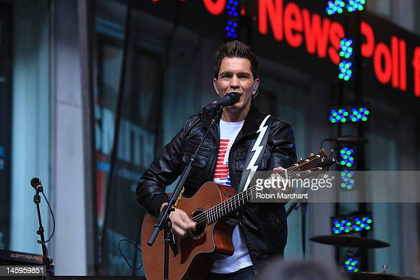 Andy Grammer performs during 'FOX Friends' All American Concert Series at FOX Studios on June 8 2012 in New York City