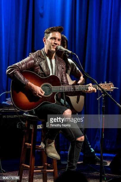 Andy Grammer performs during The Drop Andy Grammer at The GRAMMY Museum on January 17 2018 in Los Angeles California