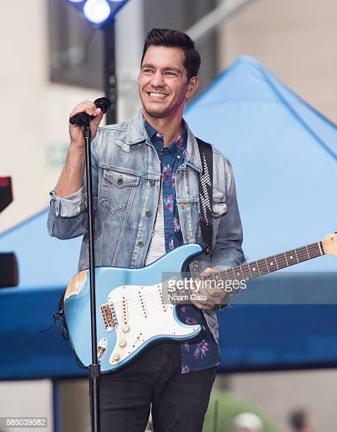 Andy Grammer performs on NBC's 'Today' at Rockefeller Plaza on August 1 2016 in New York City