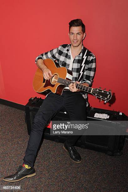 Andy Grammer poses for a portrait at radio station Y 100 on February 17 2015 in Miami Florida