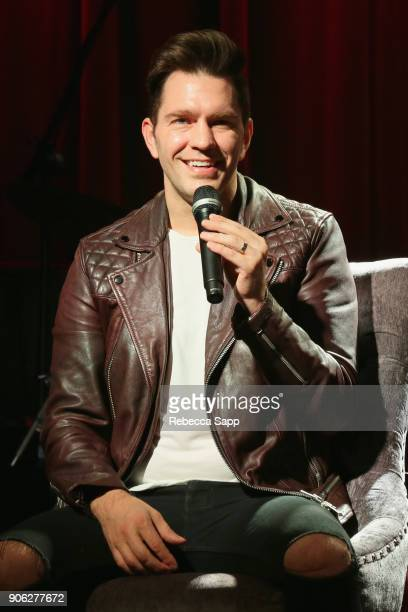 Andy Grammer speaks onstage at The Drop Andy Grammer at The GRAMMY Museum on January 17 2018 in Los Angeles California