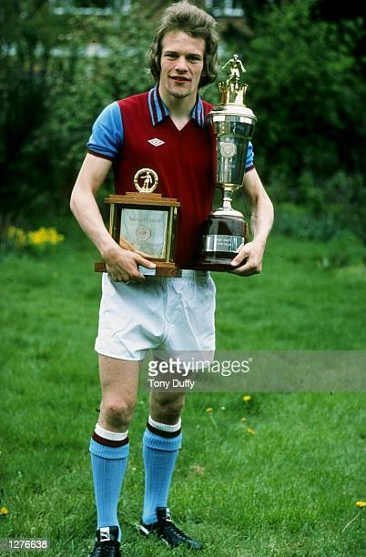 Andy Gray of Aston Villa is voted both Player and Young Player of the Year Mandatory Credit Tony Duffy /Allsport