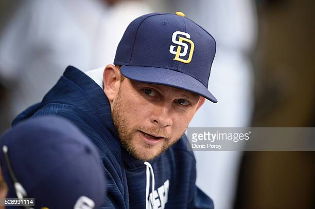 Andy Green of the San Diego Padres looks on before a baseball game against the Colorado Rockies at PETCO Park on May 2 2016 in San Diego California