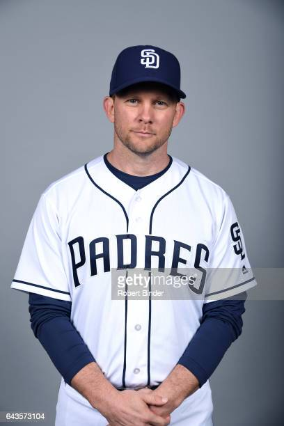 Andy Green of the San Diego Padres poses during Photo Day on Sunday February 19 2017 at Peoria Stadium in Peoria Arizona