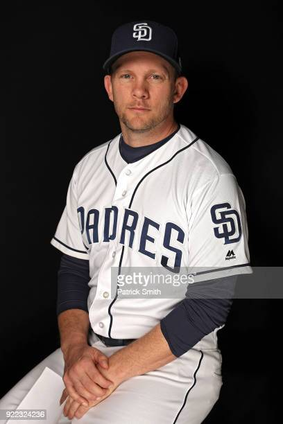 Andy Green of the San Diego Padres poses on photo day during MLB Spring Training at Peoria Sports Complex on February 21 2018 in Peoria Arizona