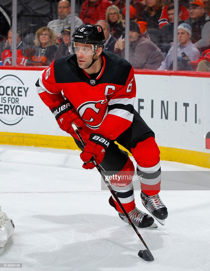 online retailer 718c2 9d9fd Andy Greene of the New Jersey Devils in action against the ...