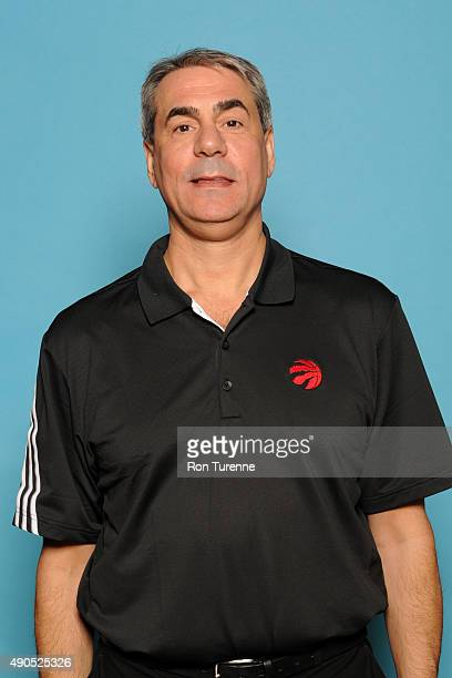 Andy Greer assistant coach of the Toronto Raptors poses for a photo during media day on September 28 at the Air Canada Centre in Toronto Ontario...