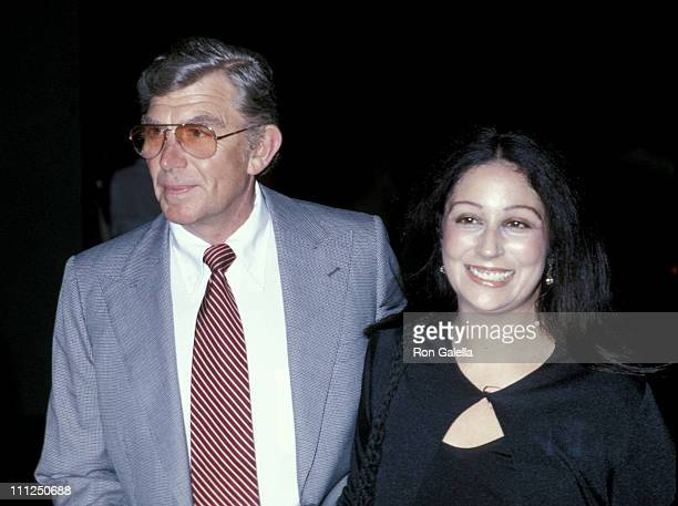 Andy Griffith and date during CBS Television 50th Anniversary Party at Beverly Hills Hotel in Beverly Hills California United States
