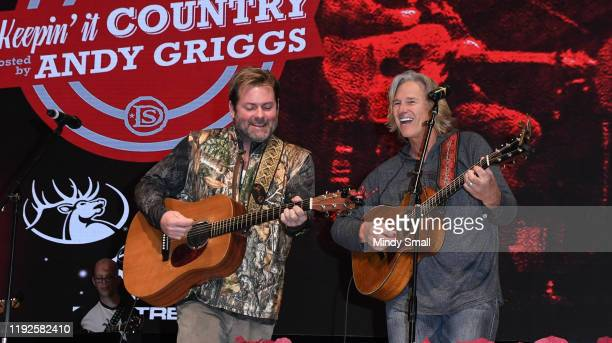Andy Griggs and Billy Dean perform during the Daryle Singletary's 'Keepin' it Country' hosted by Andy Griggs show during National Finals Rodeo's...