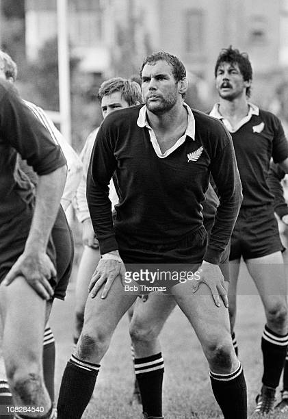 Andy Haden of New Zealand during the match between Swansea and the New Zealand All Blacks at St Helens in Swansea on 25th October 1980 The All Blacks...