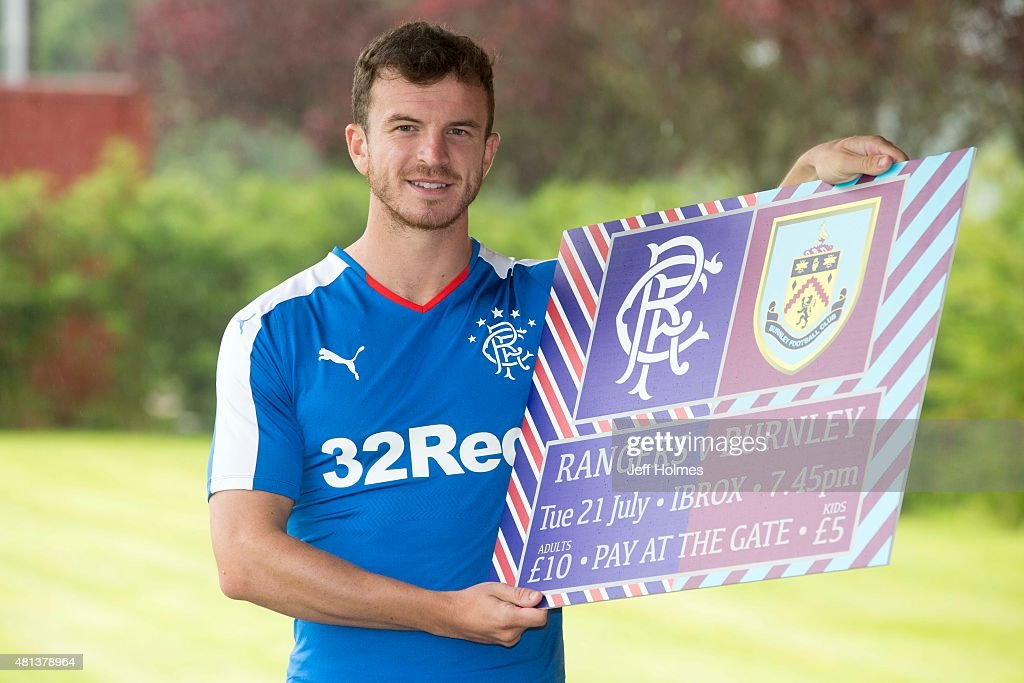 Andy Halliday of Rangers FC poses after a training session in Murray Park on July 20, 2015 in Glasgow, Scotland.