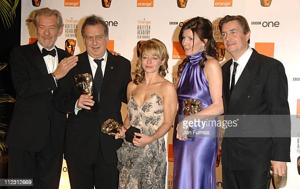 Andy Harries and Christine Langan winners of Best Film for 'The Queen' Sir Ian McKellen and Tracey Seaward winner of Best Film for 'The Queen'