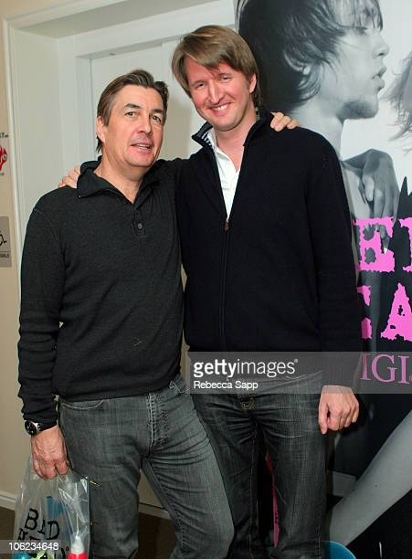 Andy Harries and Tom Hooper at TIGI/Bed Head during 2007 Park City Luxury Lounge Day 6 at Main Street in Park City Utah United States