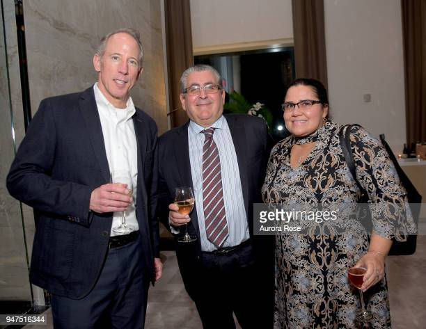Andy Hart Harvey Tanton and Melanie Tanton at Launch Of New Entity Withers Global Advisors at 432 Park Avenue on April 3 2018 in New York City Andy...