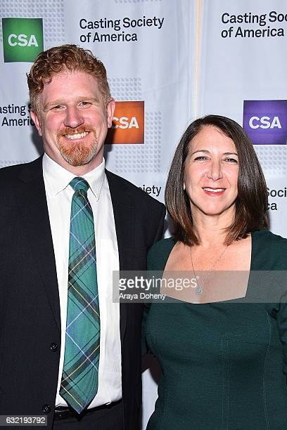Andy Henry and Nancy Nayor arrive at the 2017 Annual Artios Awards at The Beverly Hilton Hotel on January 19 2017 in Beverly Hills California