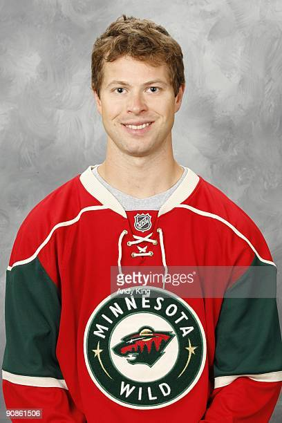 Andy Hilbert of the Minnesota Wild poses for his official headshot for the 20092010 NHL season at the Xcel Energy Center on September 12 2009 in...