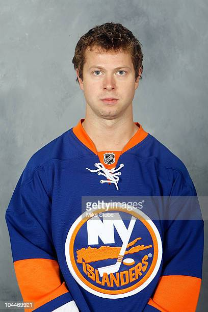 Andy Hilbert of the New York Islanders poses for his official headshot for the 20102011NHL season on September 17 2010 in Uniondale New York