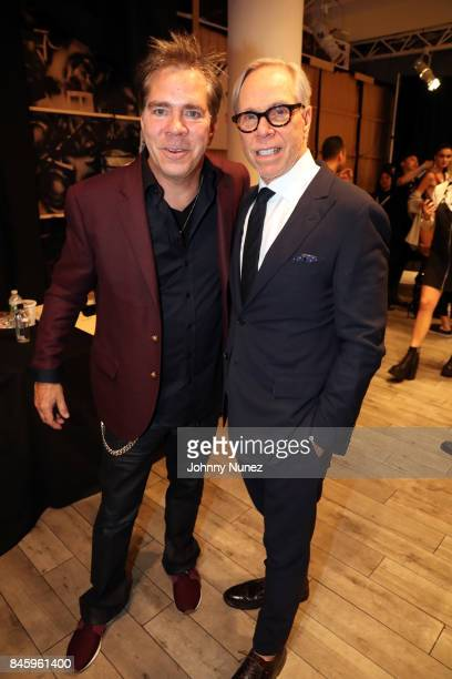 Andy Hilfiger and Tommy Hilfiger attend Kia STYLE360 Andy Hilfiger Presents ARTISTIX By Greg Polisseni S/S '18 at Metropolitan West on September 11...