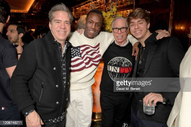 Andy Hilfiger Micheal Ward Tommy Hilfiger and guest attend the TOMMYNOW after party at Annabels on February 16 2020 in London England