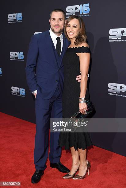 Andy Hill and Jessica EnnisHill attend the BBC Sports Personality Of The Year at Resorts World on December 18 2016 in Birmingham United Kingdom