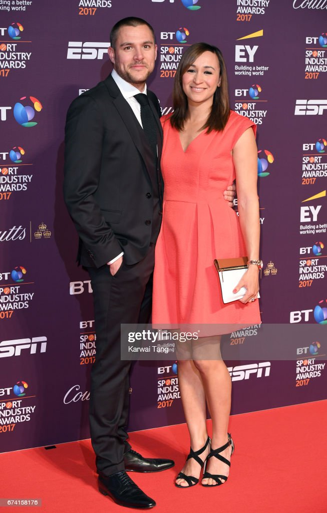 Andy Hill and Jessica Ennis-Hill attend the BT Sport Industry Awards at Battersea Evolution on April 27, 2017 in London, England.