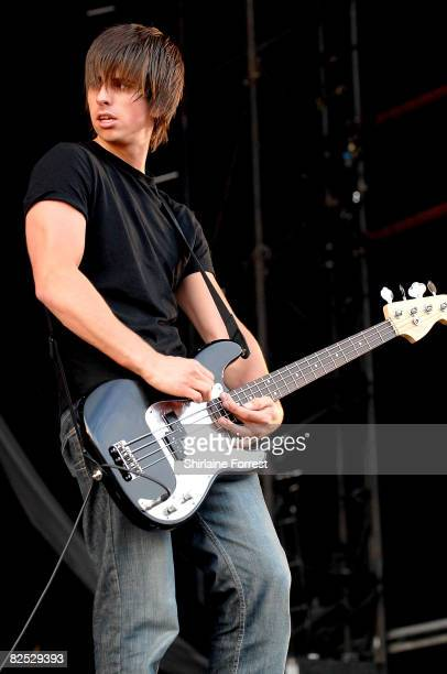Andy Hopkins of The Enemy performs at day two of the Leeds Festival at Bramhall Park on August 23 2008 in Leeds England