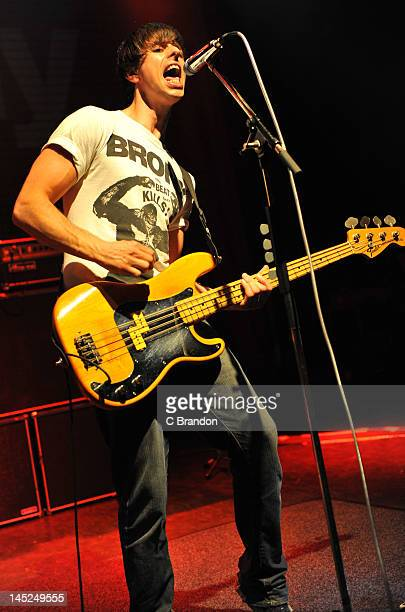 Andy Hopkins of The Enemy performs on stage at Shepherds Bush Empire on May 24 2012 in London United Kingdom