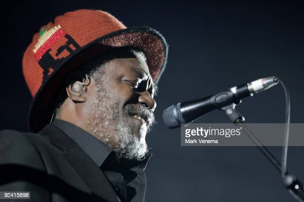 Andy Horace performs live with Massive Attack at Heineken Music Hall on October 27, 2009 in Amsterdam, Netherlands.