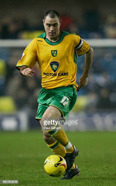 Andy Hughes of Norwich City in action during the CocaCola Championship match between Millwall and Norwich City at the New Den on November 22 2005 in...