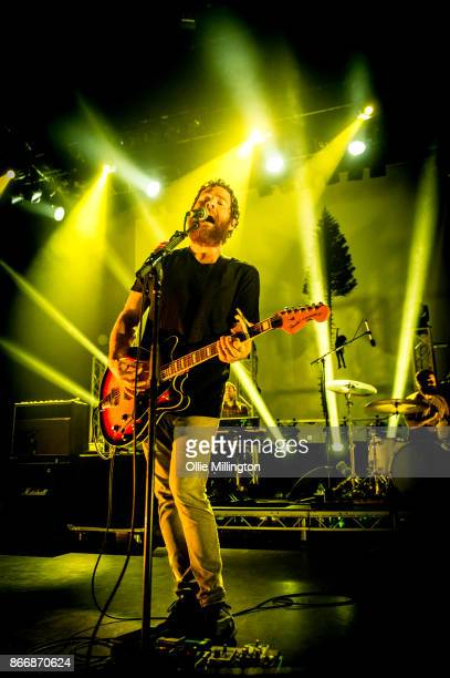 Andy Hull of Manchester Orchestra performs onstage at O2 Shepherd's Bush Empire on October 26 2017 in London England