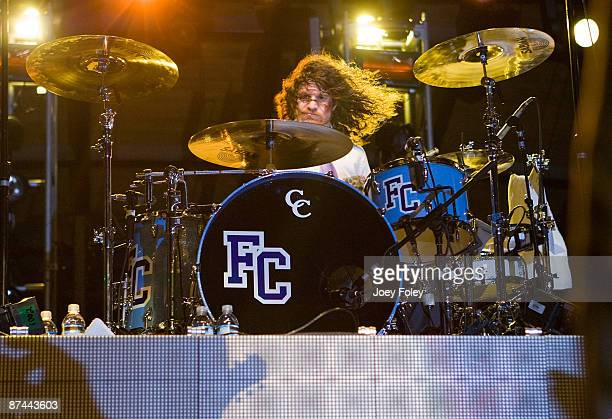 Andy Hurley of Fall Out Boy performs at The Lawn at White River State Park on May 15 2009 in Indianapolis Indiana