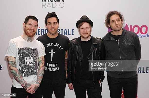 Andy Hurley Pete Wentz Patrick Stump and Joe Trohman of Fall out Boy attend Z100's Jingle Ball 2013 presented by Aeropostale at Madison Square Garden...