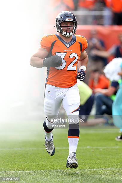 Andy Janovich of the Denver Broncos is introduced before the game against the San Diego Chargers at Sports Authority Field At Mile High on October 30...