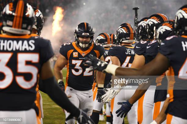 Andy Janovich of the Denver Broncos is introduced to the game against the Cleveland Browns The Denver Broncos hosted the Cleveland Browns at Broncos...