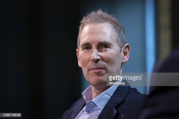 Andy Jassy, chief executive officer of Amazon.Com Inc., during the GeekWire Summit in Seattle, Washington, U.S., on Tuesday, Oct. 5, 2021. The...