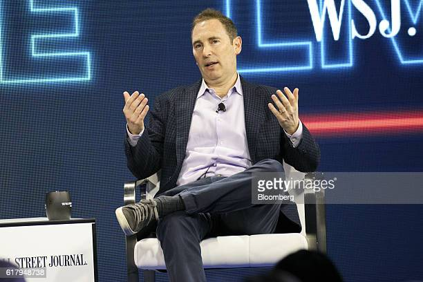Andy Jassy, chief executive officer of web services at Amazon.com Inc, speaks during the WSJDLive Global Technology Conference in Laguna Beach,...