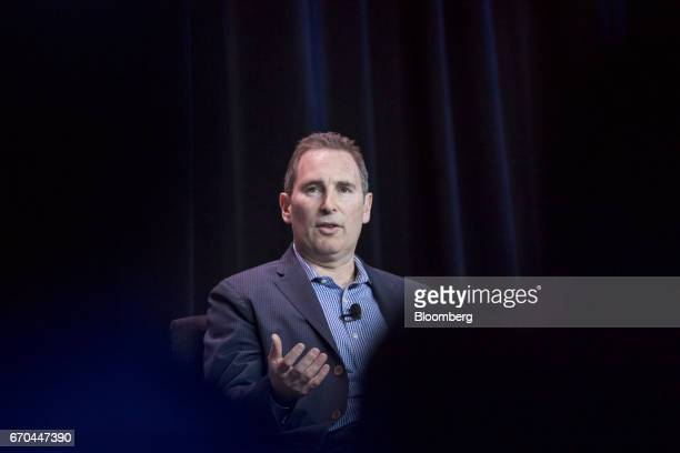 Andy Jassy, chief executive officer of web services at Amazon.com Inc., speaks during the Amazon Web Services Summit in San Francisco, California,...