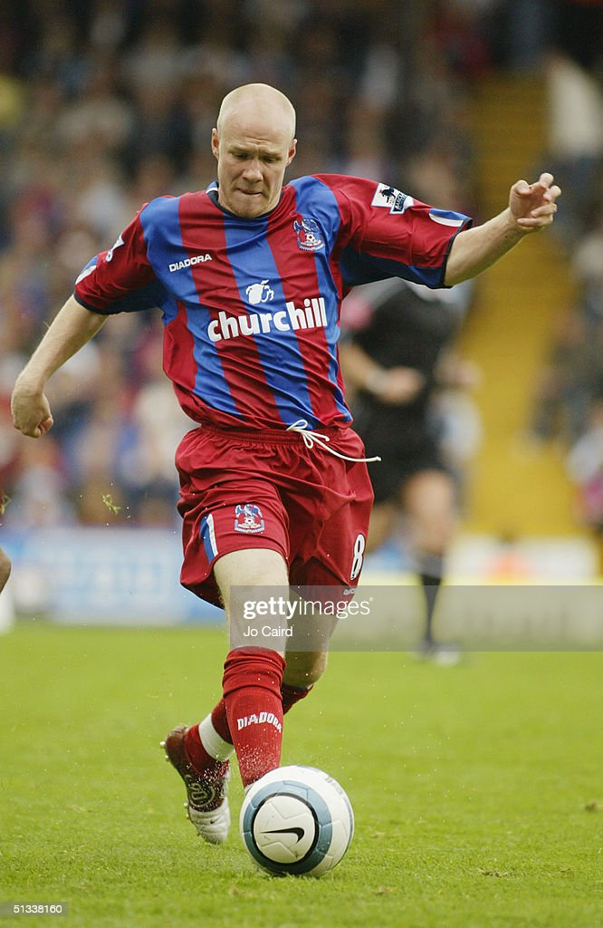 Andy Johnson of Crystal Palace of in action during the Barclays Premiership match between Crystal Palace and Manchester City at Selhurst Park on September 18, 2004 in London, England.