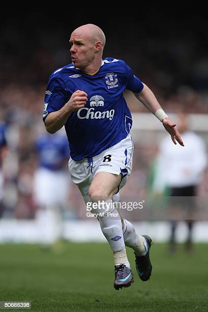 Andy Johnson of Everton in action during the Barclays Premier League match between Everton and Derby County at Goodison Park on 6 April 2008 in...