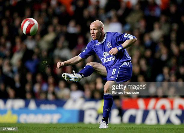 Andy Johnson of Everton in action during the Barclays Premiership match between Aston Villa and Everton at Villa Park on April 2 2007 in Brimingham...