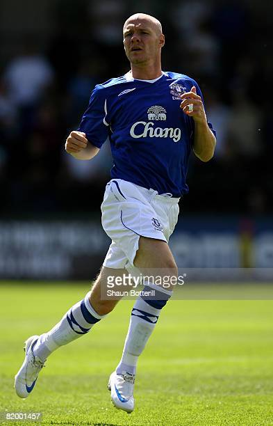 Andy Johnson of Everton in action during the Pre Season Friendly match between Cambridge United and Everton at the Abbey Stadium on July 19 2008 in...